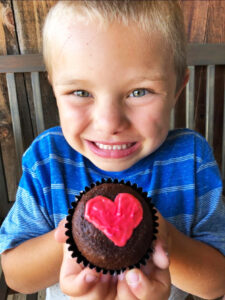 Heart kid_with_heart cupcake_heartaversary
